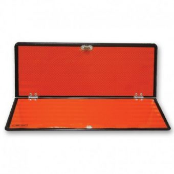 panel naranja plegable