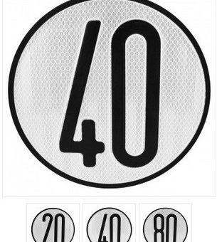 señal limite de velocidad 200mm diametro