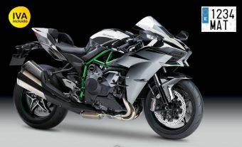 matrícula acrílica de moto con remaches