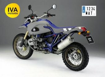 matrícula metálica para moto campo